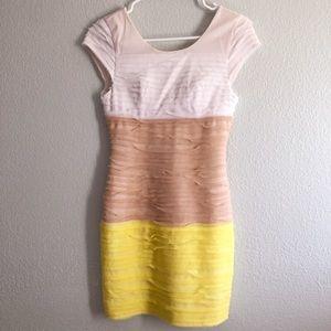 Bebe color block dress